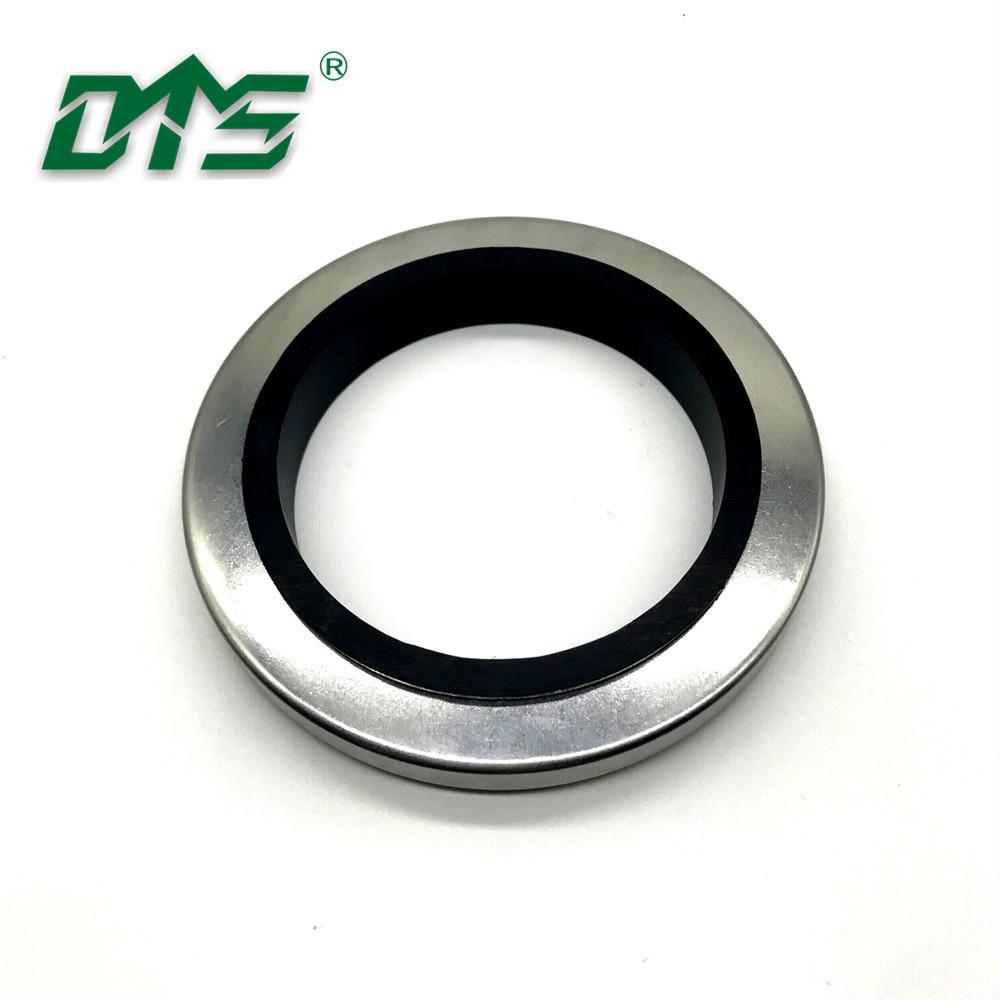 High Pressure Black Double Lips Stainless Steel PTFE Oil Seal For Mechanical SeaL