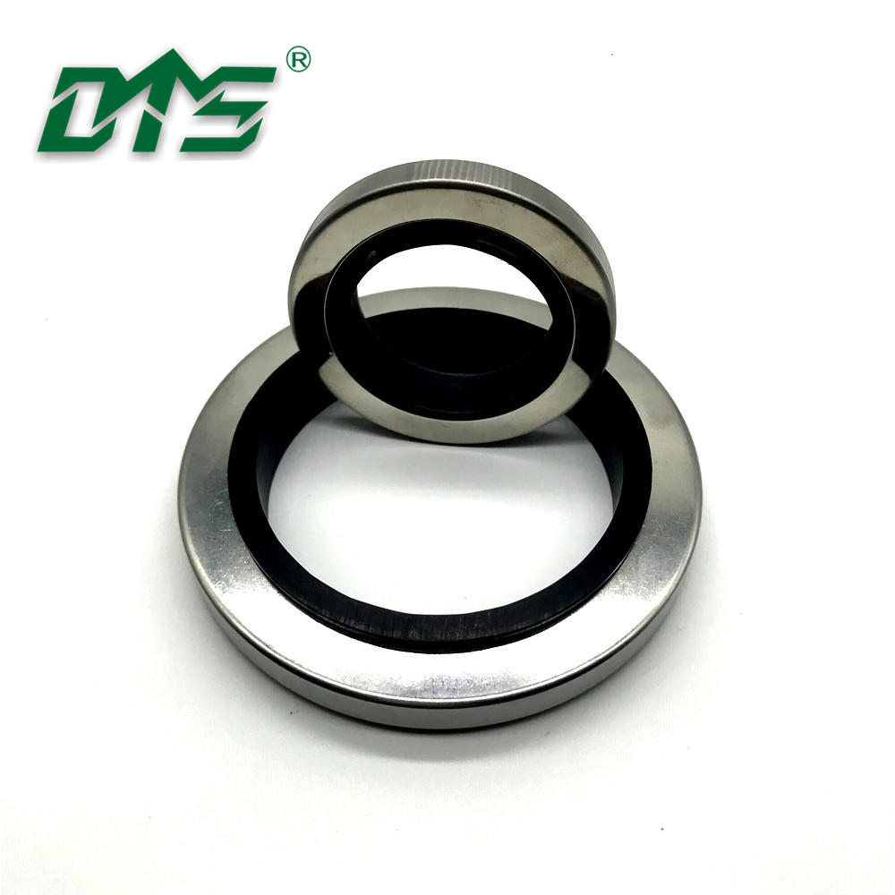 Customize PTFE double lips stainless steel hydraulic oil seal LA