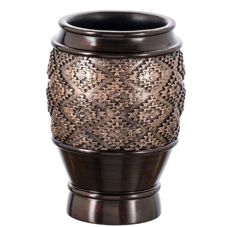 Antique Copper Polyresin Tumbler Cup for Bathroom Accessories Set