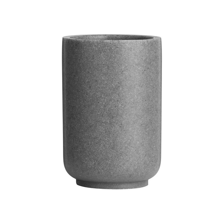 Grey sandstone bathroom accessories tumbler for home bath set