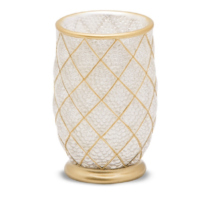 Luxury Hotel Decorated Clear Resin Bathroom Accessories Tumblers