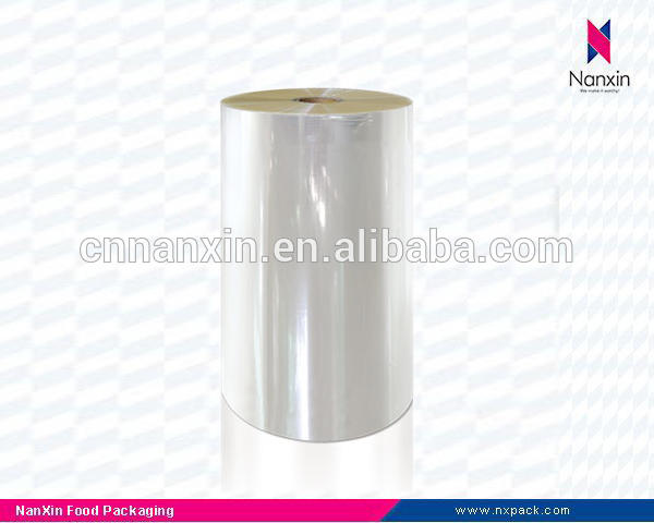 laminated plastic roll VMCPP film for food packaging