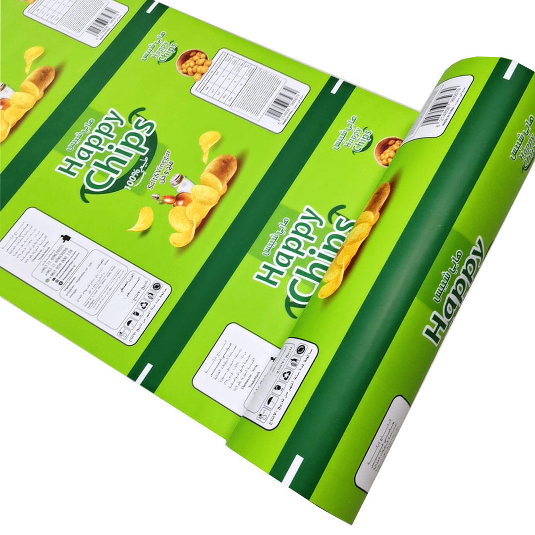 Auto air charge packing roll film for Potato Chips