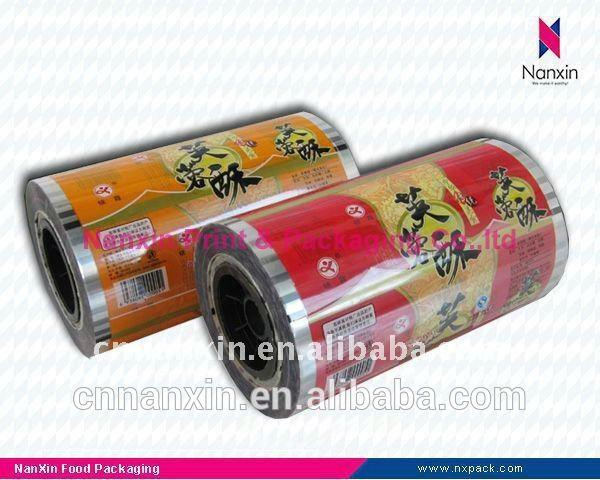 food packaging aluminum foil film lamination roll film for biscuit packaging
