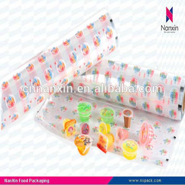 PVC plastic heat seal roll film for juice
