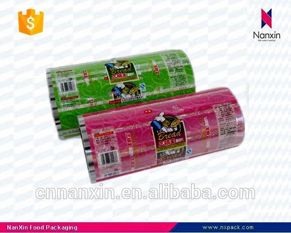 laminated plastic snack food packaging roll film