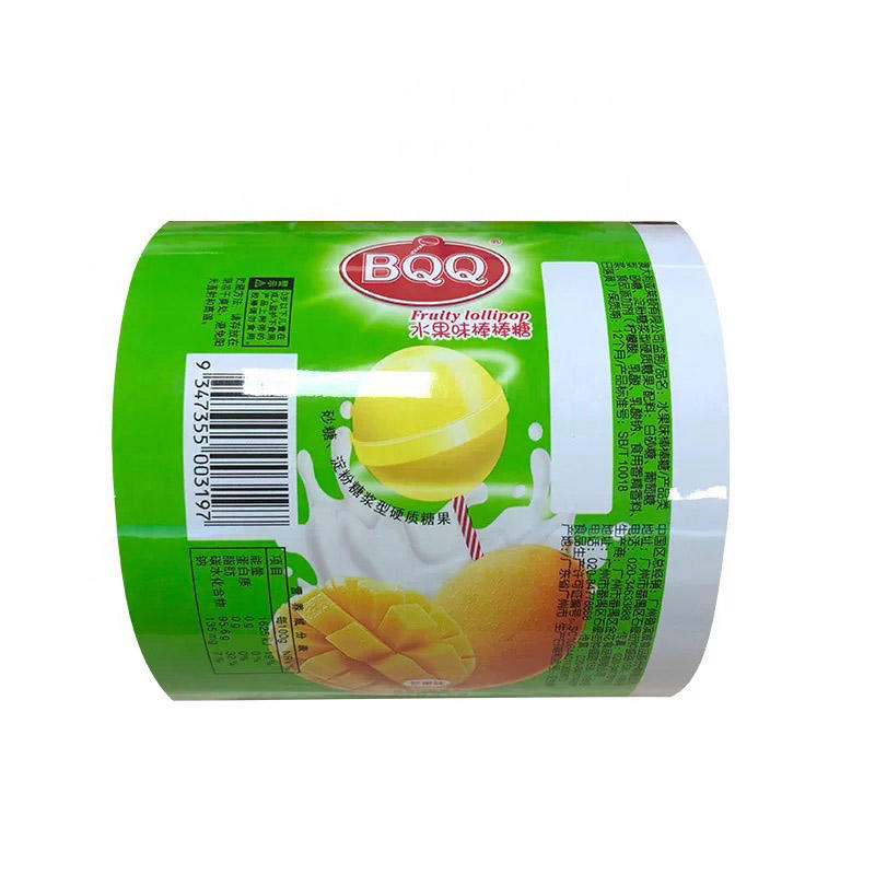 Coating packing roll film for Snacks lollipop candy