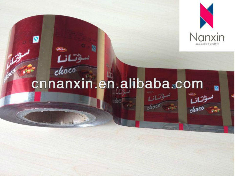 foil sachet roll film for food packaging