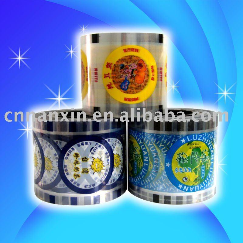 Automatic packaging bubble tea cup sealing film