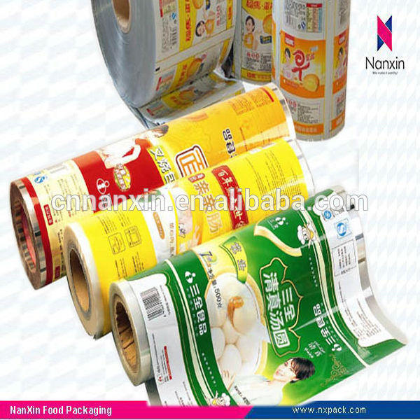 auto machine plastic roll film laminated for food packaging