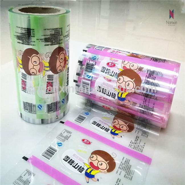 OEM design heat seal plastic automatic packing roll film for snack food