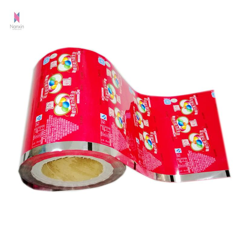 customized plastic OPP/CPP roll film for snack food packaging