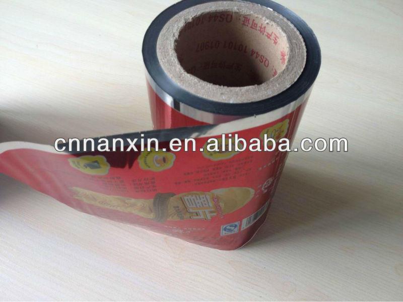 plastic roll film for banana chips packaging