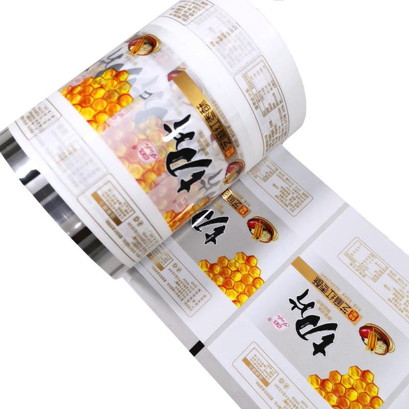 Automatic Food Packing Roll film Food industry using mylar plastic paper cups heat sealing film