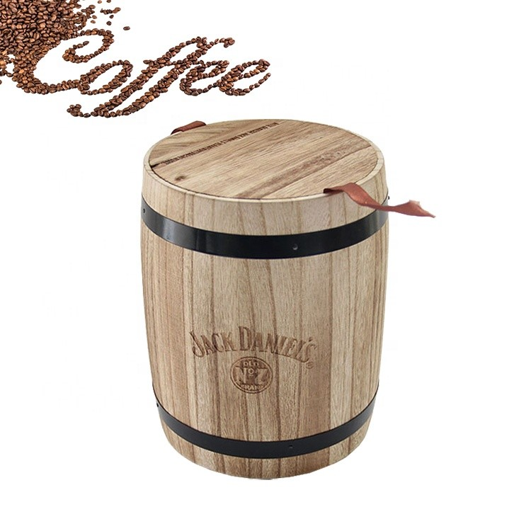 Vitalucks Unfinished Paulownia Oak Small Wooden Barrel For Package,Customized Home Decoration Barrels