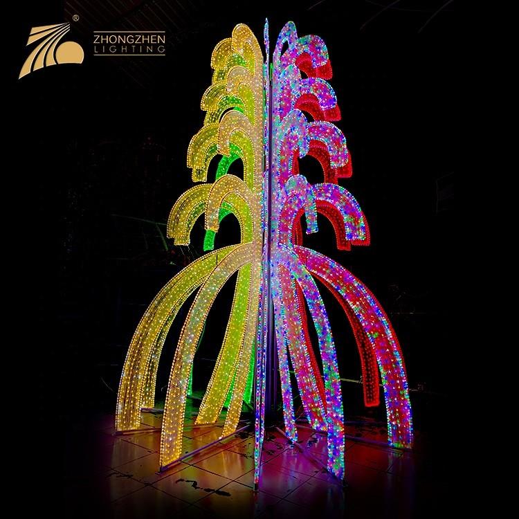 Custom Giant 20 feet RGBW Color Changeable 3D Christmas Tree LED Motif Light