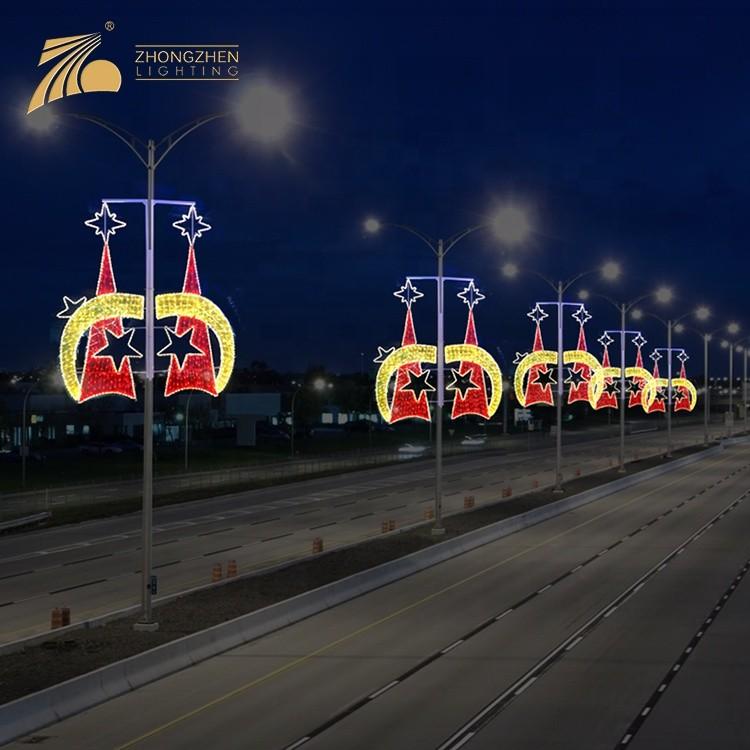 CE ROHS Standard Custom Outdoor Street Pole Decoration Project 2D LED Motif Light