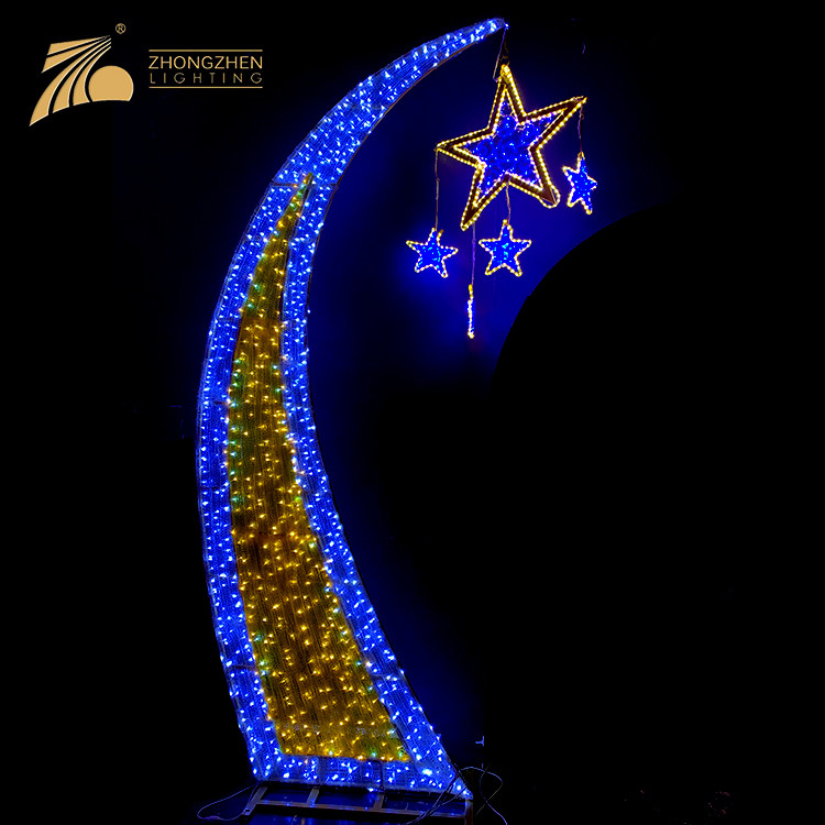 Professional Custom Holiday Outdoor Decoration 2D LED Star Arch Motif Light