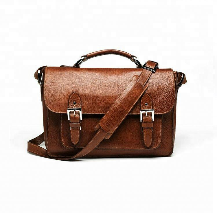 GF-B066 Fashion Brown Leather Camera Satchel Bag for an SLR Camera and 2-3 Lenses