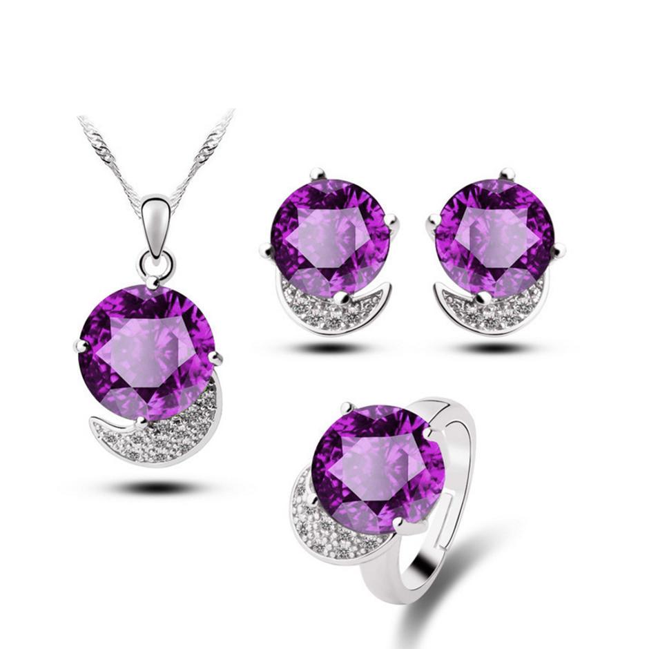 Beauty black flower cheap women jewelry sets
