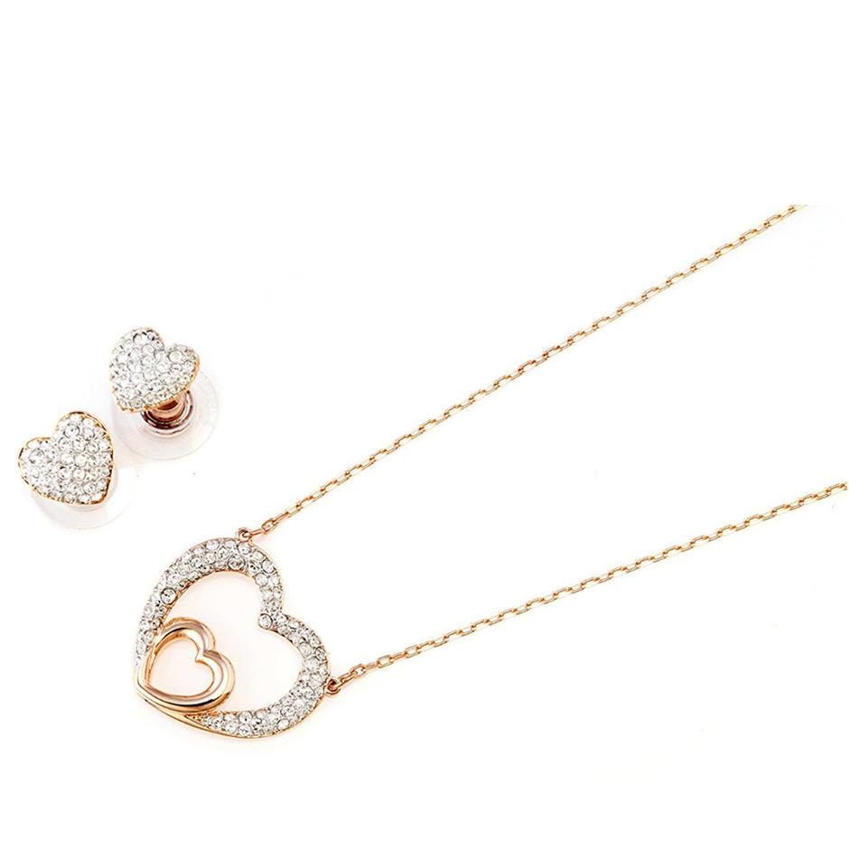 Brilliant heart design silver fashion stone fine jewellery