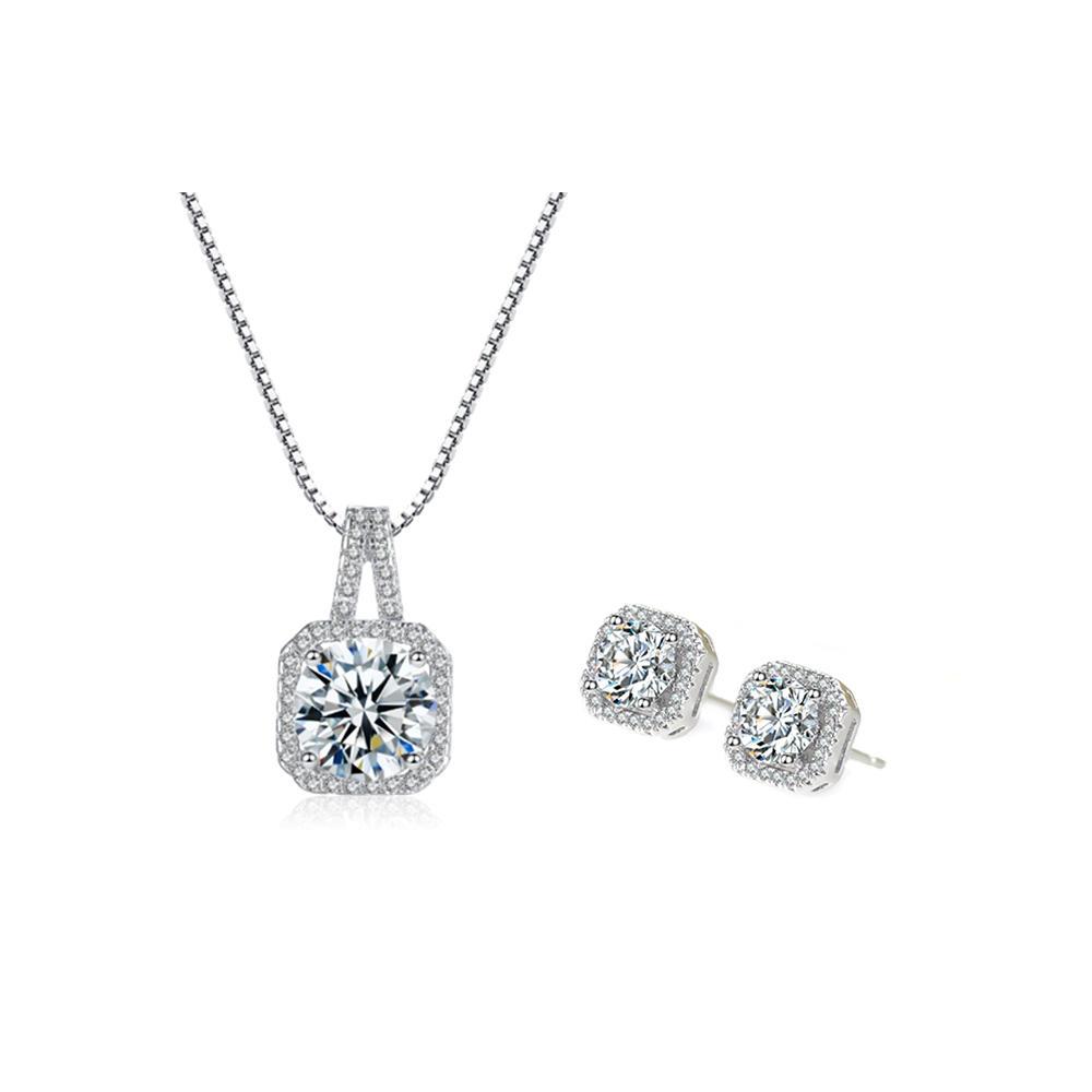 Wholesale pendant necklace stud earring jewelry set