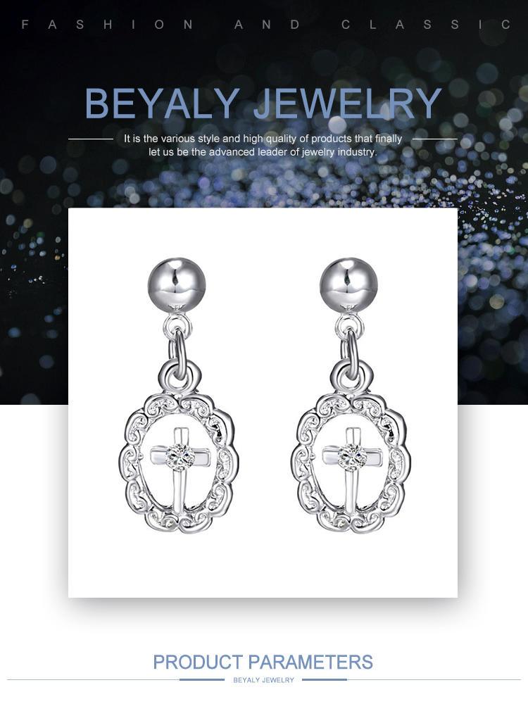Virgin Mary cross design wholesale brass necklace jewelry set