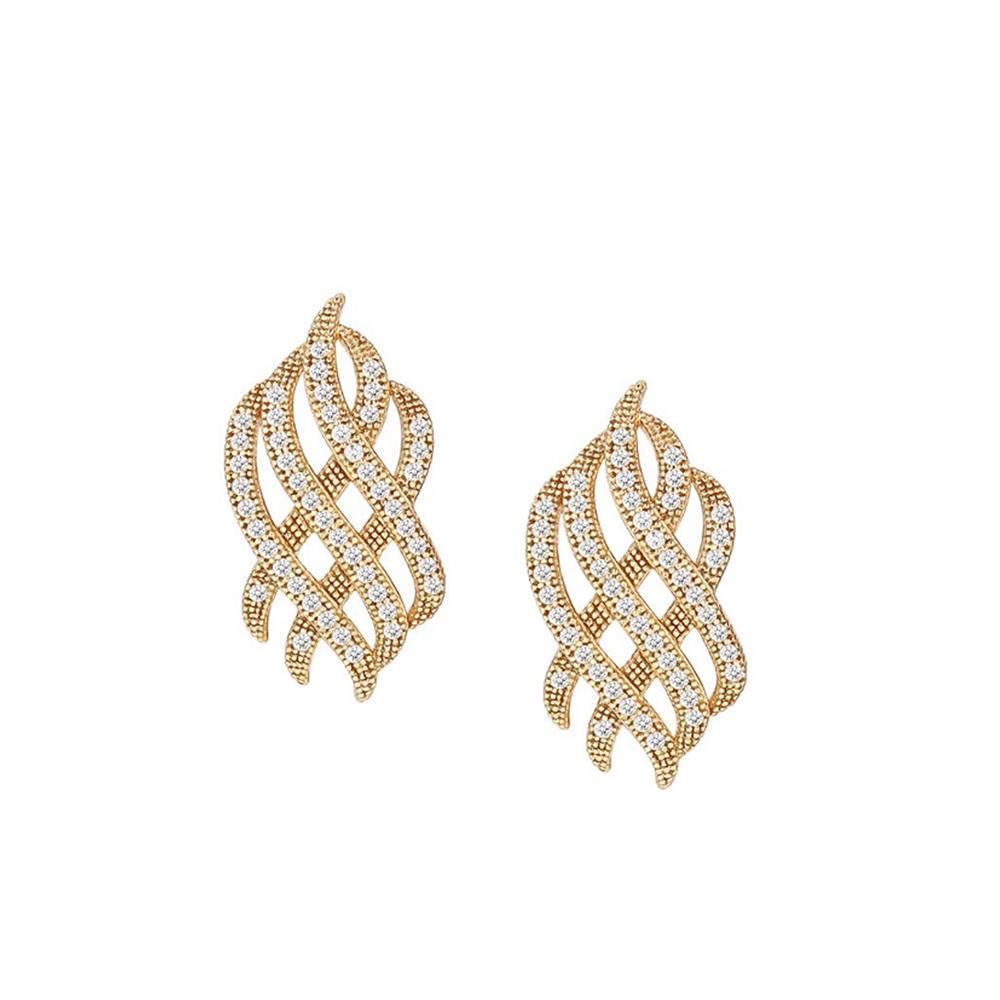 Hot wholesale interlaced pattern gold plated fashion jewelry sets