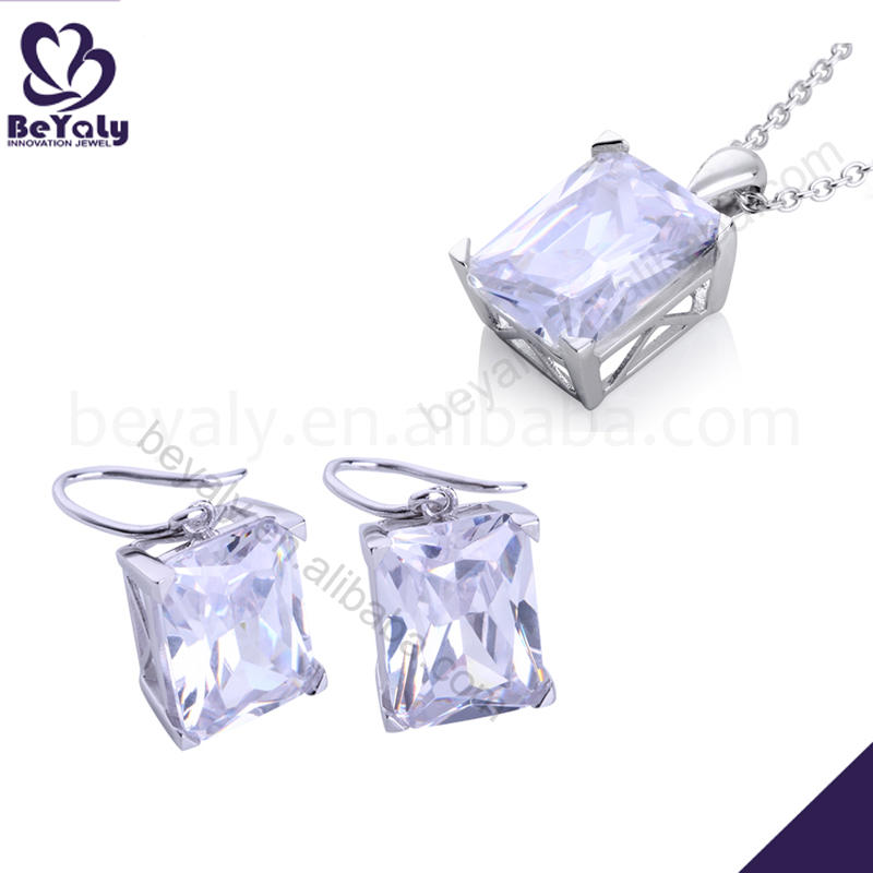 Brilliant silver fashion fine silver jewelry set 925