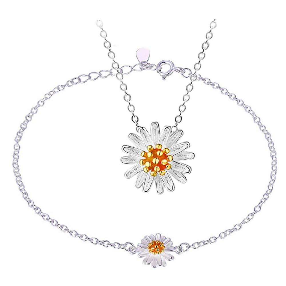 Wholesale women love flower design jewelry set gold