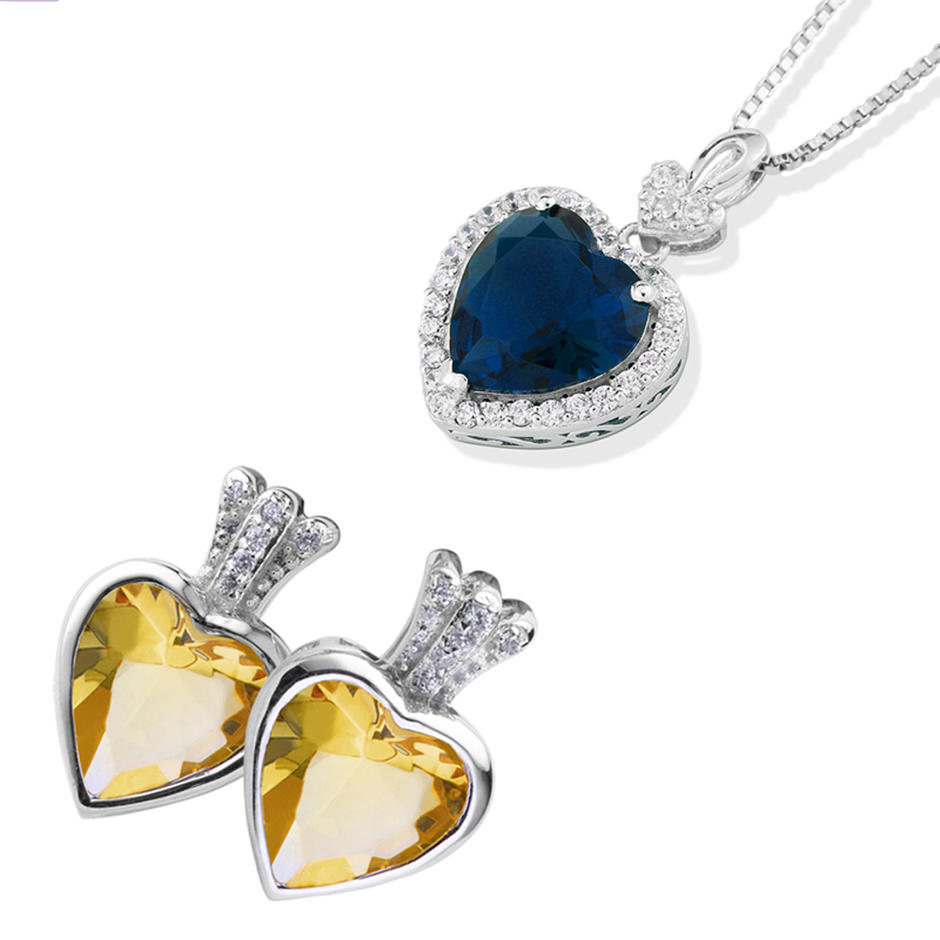Customized seahorse heart design artificial bridal jewellery set