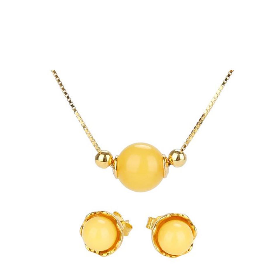 Charming gold color costume new model flower set