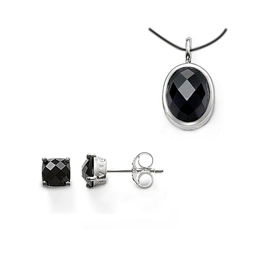 Cheap oval black crystal rhinestone costume jewellery