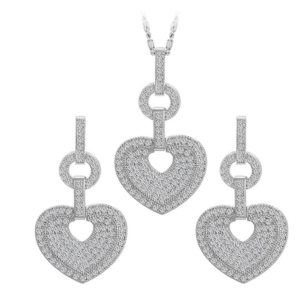 Peace and love cz wholesale african costume jewelry set