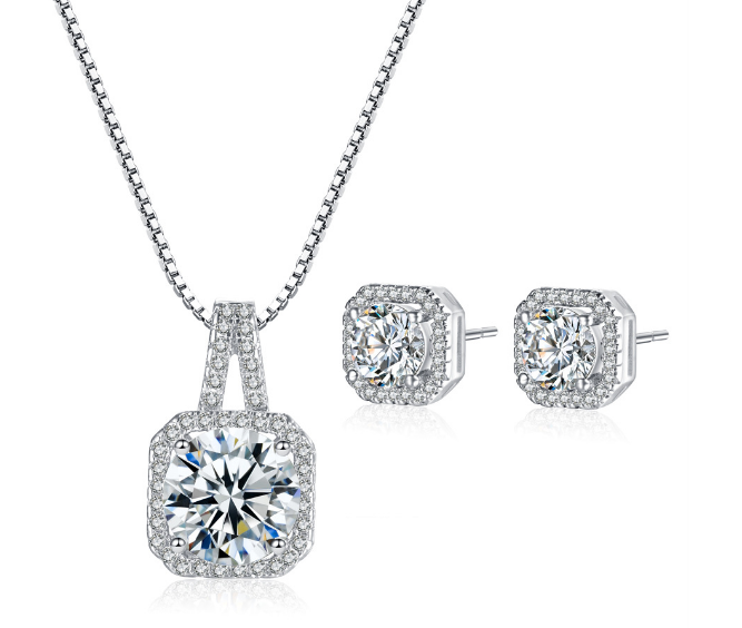 Wholesale pendant necklace stud earring jewelry set