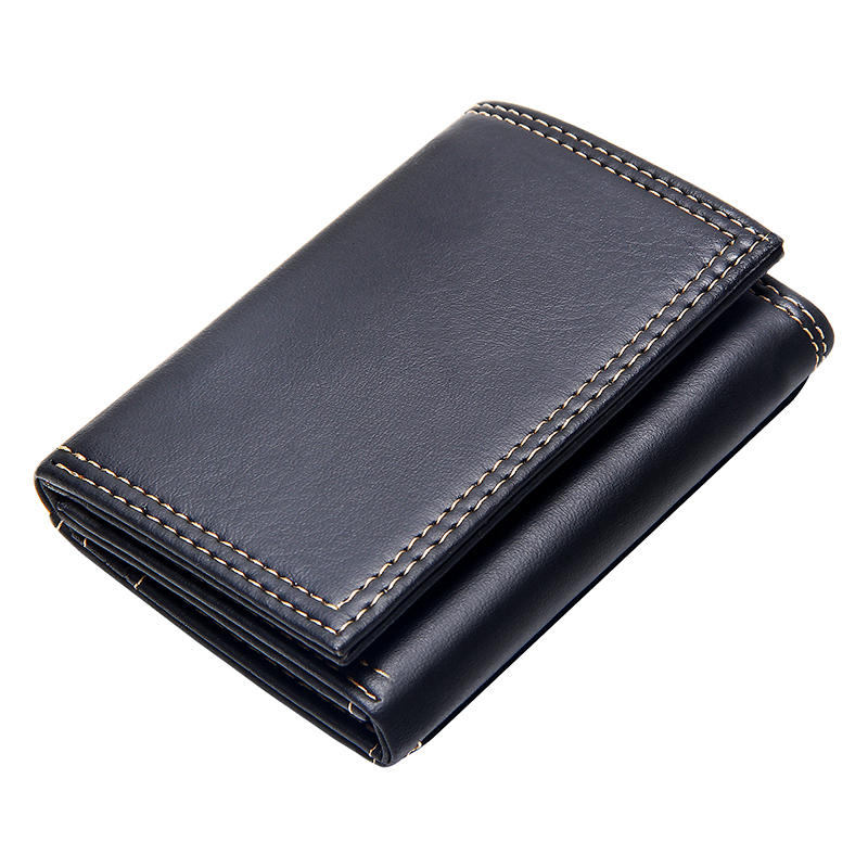 New Men Wallets Small Money Bag Retro Design Top Men Thin Wallet With Coin Purse Short Business Clutch Bag for Men Card Holder
