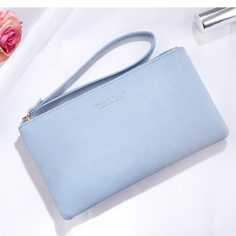 Wholesale Large Capacity Ladies Smart phone Clutch Purse Wallet Case Cell Phone Wallet with Strap Wrist for women