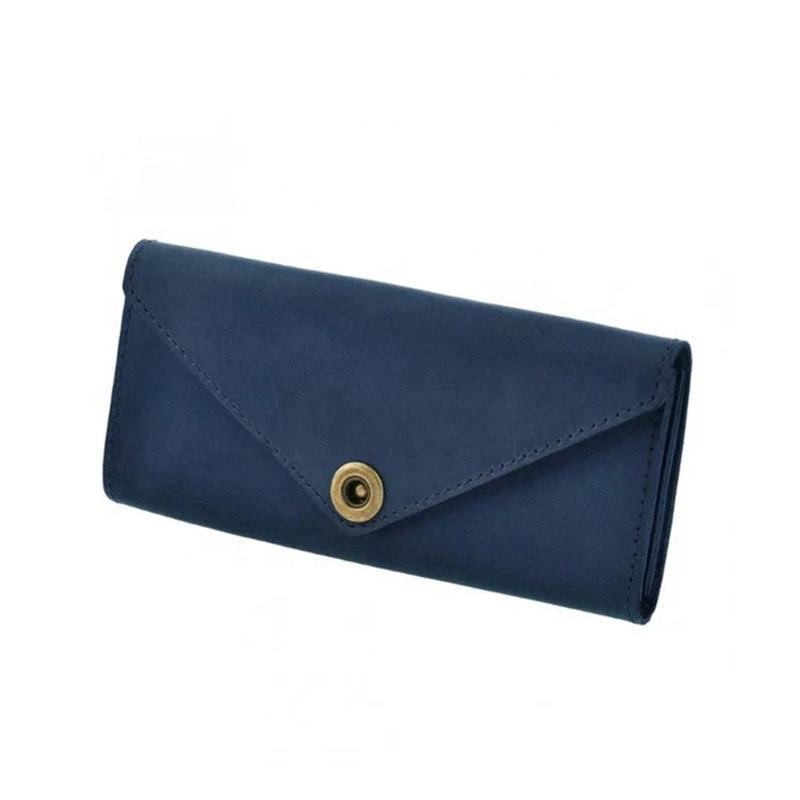 Made in China Wholesale minimalist PU leather ladies wallet for women fashion designer long slim cash envelope card money purses