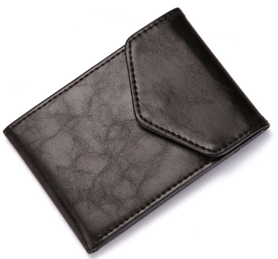 Fashion Leather Wallet Slim Wallet Coins Purse Business ID Credit Card Cases Travel Wallet