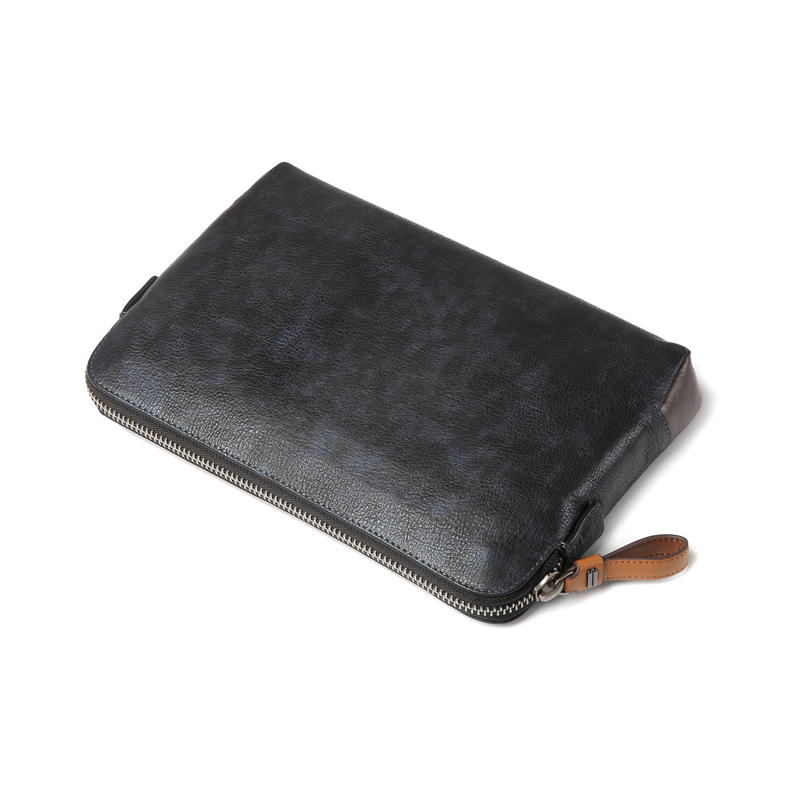 Custom Retro Leather Men's Messenger Bags Business Hand Bag