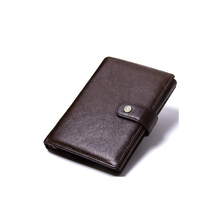 2020 Luxury Men's Wallet Leather Solid Top Quality pu Cow Leather Wallet Men Hasp Design Short Purse With Passport Photo Holder