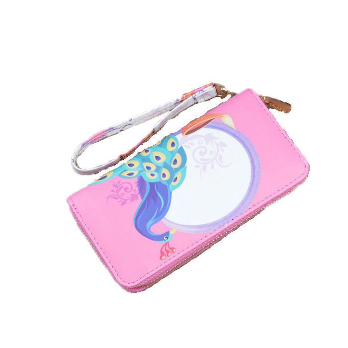 2020 fashion Handbag WOMEN'S Wallet Long Zip Korean-style Printed Fashion Student Wallet Mobile Phone Bag credit card wallet