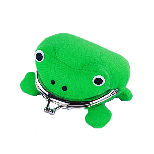 1PCS Frog Shape Cosplay Green Animal Bag Coin Purse Wallet Soft Furry Plush Purse Gift Smart Wallet Mini Slim Card Wallet