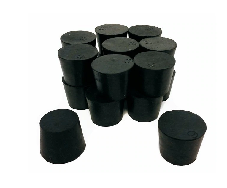 20mm silicone car door butyl bromobutyl rubber stopper with holes