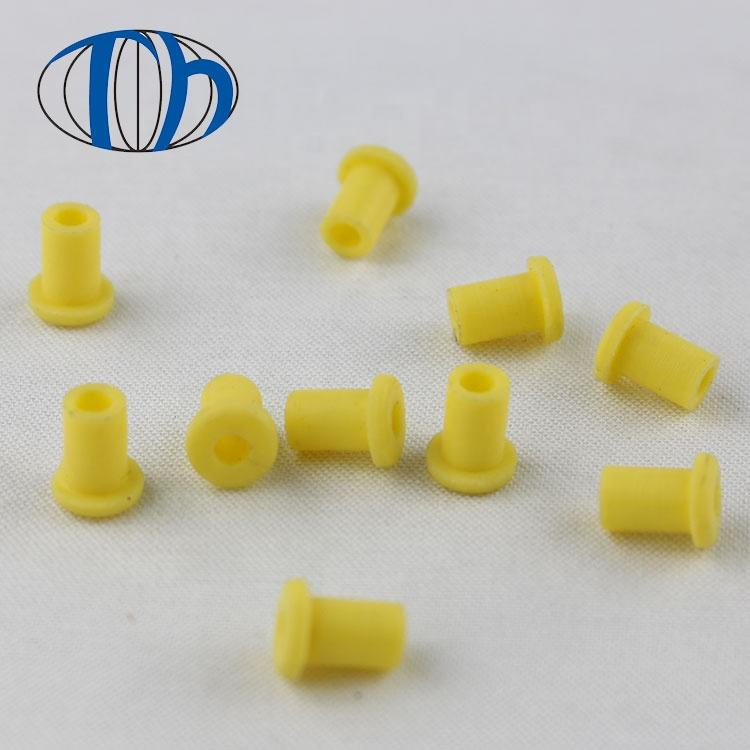 Yellow silicone rubber plug for musical instruments