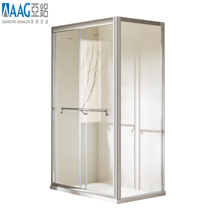 Frameless hinged door rectangular showerenclosure