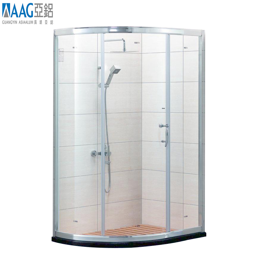 10mm right hand shower enclosure with side panel