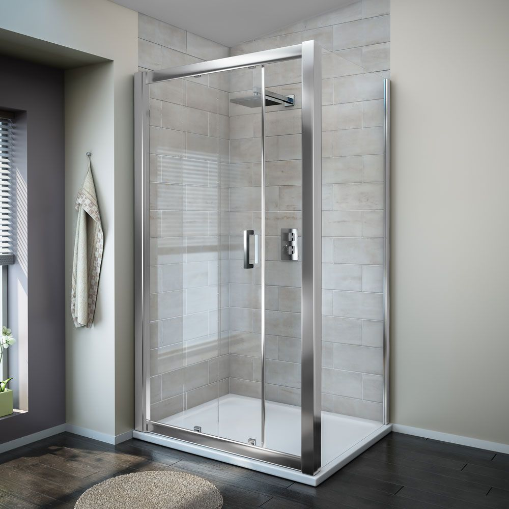 Simple painting tempered glass sliding bathroom shower enclosure