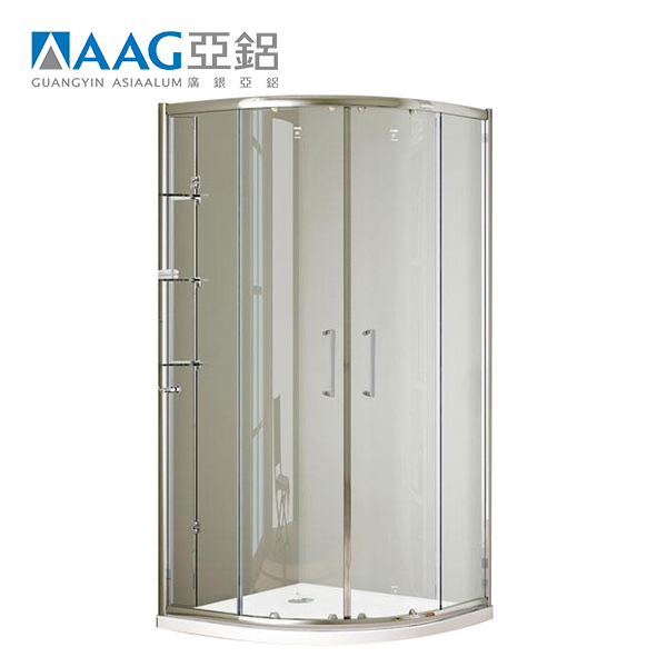 Luxury sliding door tempered clear glass shower cubicle screen
