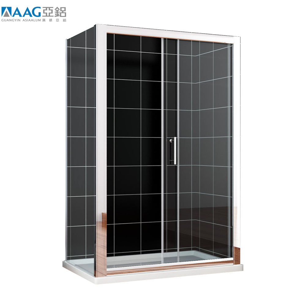 Clean Aluminum Frame Sliding Glass Shower Cubicle